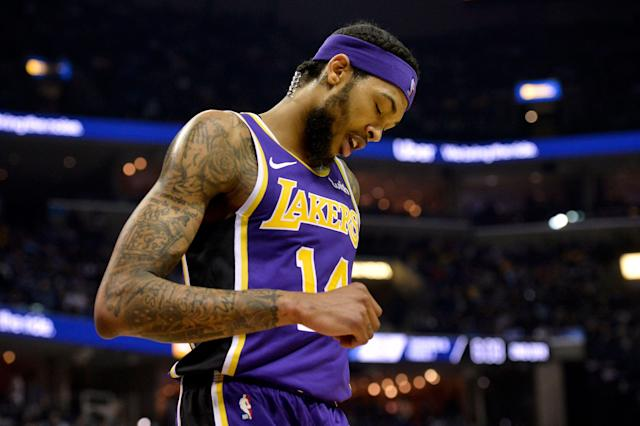 Lakers forward Brandon Ingram underwent season-ending surgery to solve a blood-clotting issue. (AP)