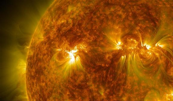 Sunspot AR1748 erupted with a medium-class M3.2 flare on May 17, 2013.