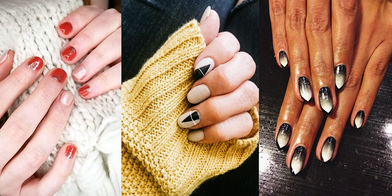 <p>I know the autumnal equinox isn't technically until September 22, but Labor Day has come and gone, so fall is basically here. That means it's officially time to swap out your sheer pink and opaque white polishes in favor of this season's dark and vampy nail art. </p><p>And I'm not talking about the cheesy designs of your childhood, but the chic, minimal, and definitively pretty designs of your adulthood, like flannel-inspired prints, minimalist bat art, and, of course, some mandatory leaf designs. Check out all the inspiration you need, ahead.</p>