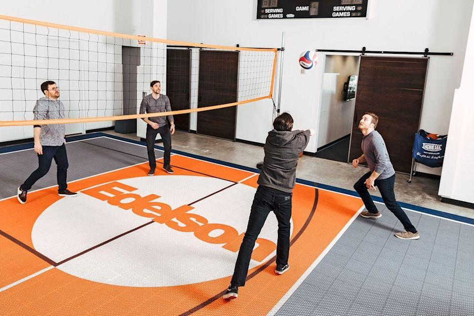 Edelson's firm isn't just about case law and court hearings. Its Chicago headquarters features an indoor volleyball court, where employees can take a break from litigation.