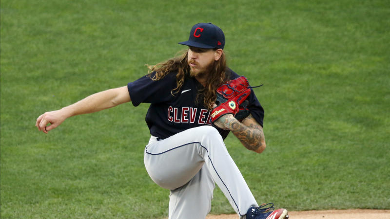 Pitcher Mike Clevinger was traded from the Indians to the Padres before the trade deadline. (AP Photo/Jim Mone)