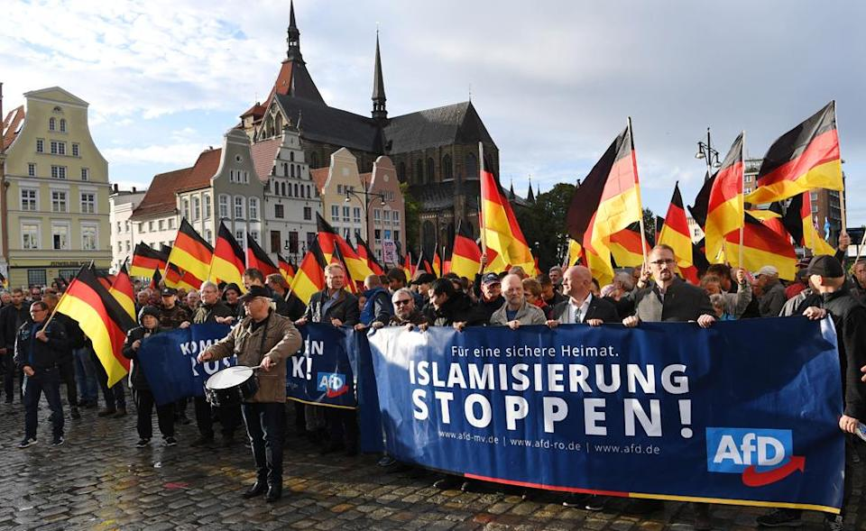 "AfD ""anti-Islamisation"" rally in Rostock, eastern Germany (22 Sep 18)"