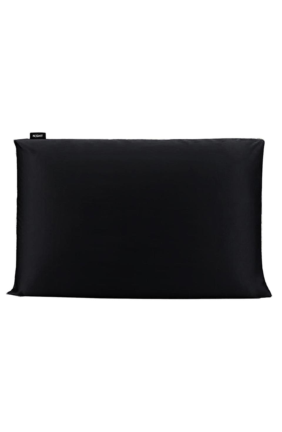 """<p><strong>NIGHT BEAUTY PILLOW</strong></p><p>nordstrom.com</p><p><a href=""""https://go.redirectingat.com?id=74968X1596630&url=https%3A%2F%2Fwww.nordstrom.com%2Fs%2Fnight-trisilk-anti-aging-pillowcase%2F5908595&sref=https%3A%2F%2Fwww.goodhousekeeping.com%2Flife%2Fmoney%2Fg36944754%2Fnordstrom-anniversary-sale-2021%2F"""" rel=""""nofollow noopener"""" target=""""_blank"""" data-ylk=""""slk:Shop Now"""" class=""""link rapid-noclick-resp"""">Shop Now</a></p><p><del>$100.00</del> $66.90 <strong>(33% off)</strong></p><p>Let Trisilk help you get your beauty sleep, thanks to its silk blend pillowcases that reduce sleep wrinkles, blemishes and bedhead all while you're counting sheep. </p>"""