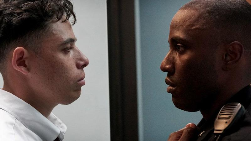 """Out of&nbsp;the powerful slew of&nbsp;race-related films to hit Sundance this year, Reinaldo Marcus Green's """"Monsters and Men""""&nbsp;stands out, partly due to its presentation of different points of view of the same bodega shooting in Brooklyn.&nbsp;<br /><br />Featuring&nbsp;heart-wrenching&nbsp;turns&nbsp;by&nbsp;Anthony Ramos, John David Washington and Kelvin Harrison Jr., the film focuses on the story of three men -- a devoted father who inadvertently films the incident on his iPhone, a black policeman balancing work and home life, and a young baseball prodigy who risks his future for the good of his community -- as they grapple with an all-too-common tragedy on the streets of New York. -- <i>LB</i><a></a>"""