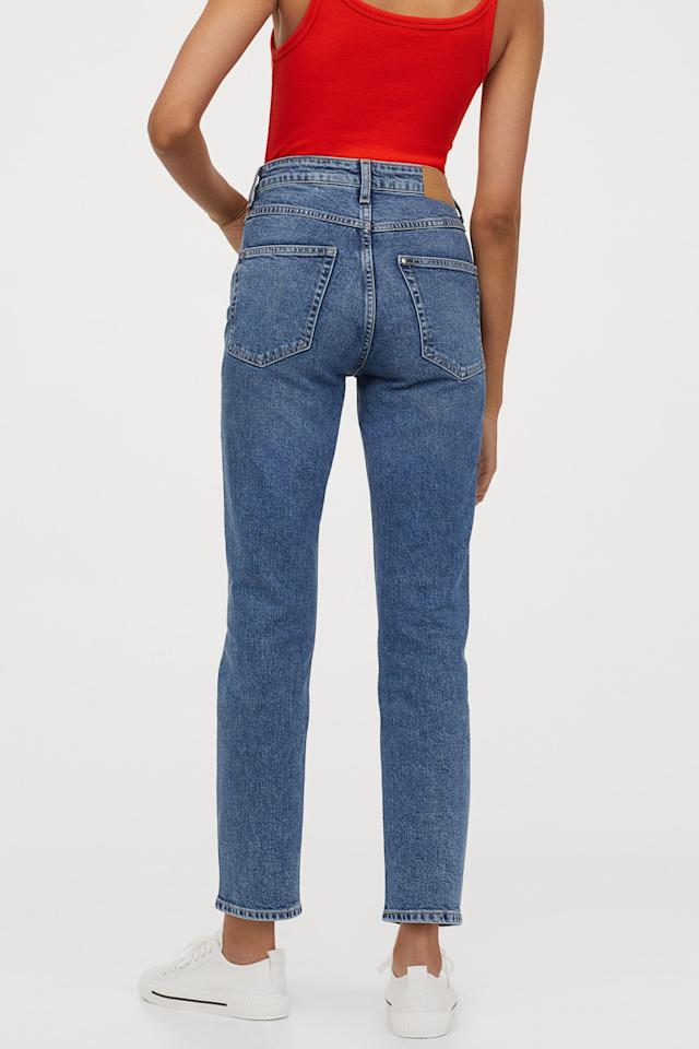 "<p>The vintage style of these <a href=""https://www.popsugar.com/buy/HampM-Slim-High-Ankle-Jeans-534302?p_name=H%26amp%3BM%20Slim%20High%20Ankle%20Jeans&retailer=www2.hm.com&pid=534302&price=30&evar1=fab%3Aus&evar9=45615413&evar98=https%3A%2F%2Fwww.popsugar.com%2Ffashion%2Fphoto-gallery%2F45615413%2Fimage%2F47037442%2FHM-Vintage-Slim-High-Ankle-Jeans&list1=shopping%2Cdenim%2Cwinter%2Cwinter%20fashion&prop13=mobile&pdata=1"" rel=""nofollow"" data-shoppable-link=""1"" target=""_blank"" class=""ga-track"" data-ga-category=""Related"" data-ga-label=""https://www2.hm.com/en_us/productpage.0799365002.html"" data-ga-action=""In-Line Links"">H&amp;M Slim High Ankle Jeans</a> ($30) is perfect.</p>"