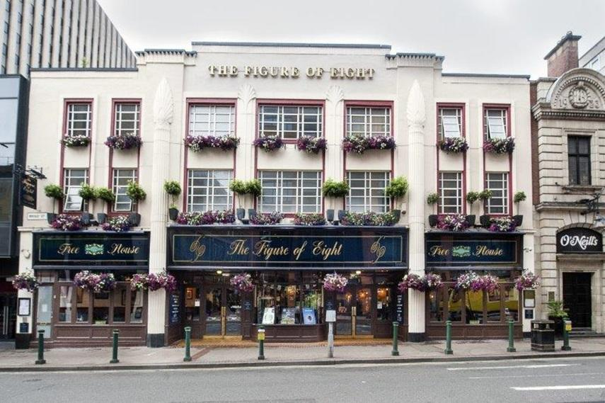 The alleged incident happened outside the Figure of Eight pub in Birmingham. (Wetherspoons)