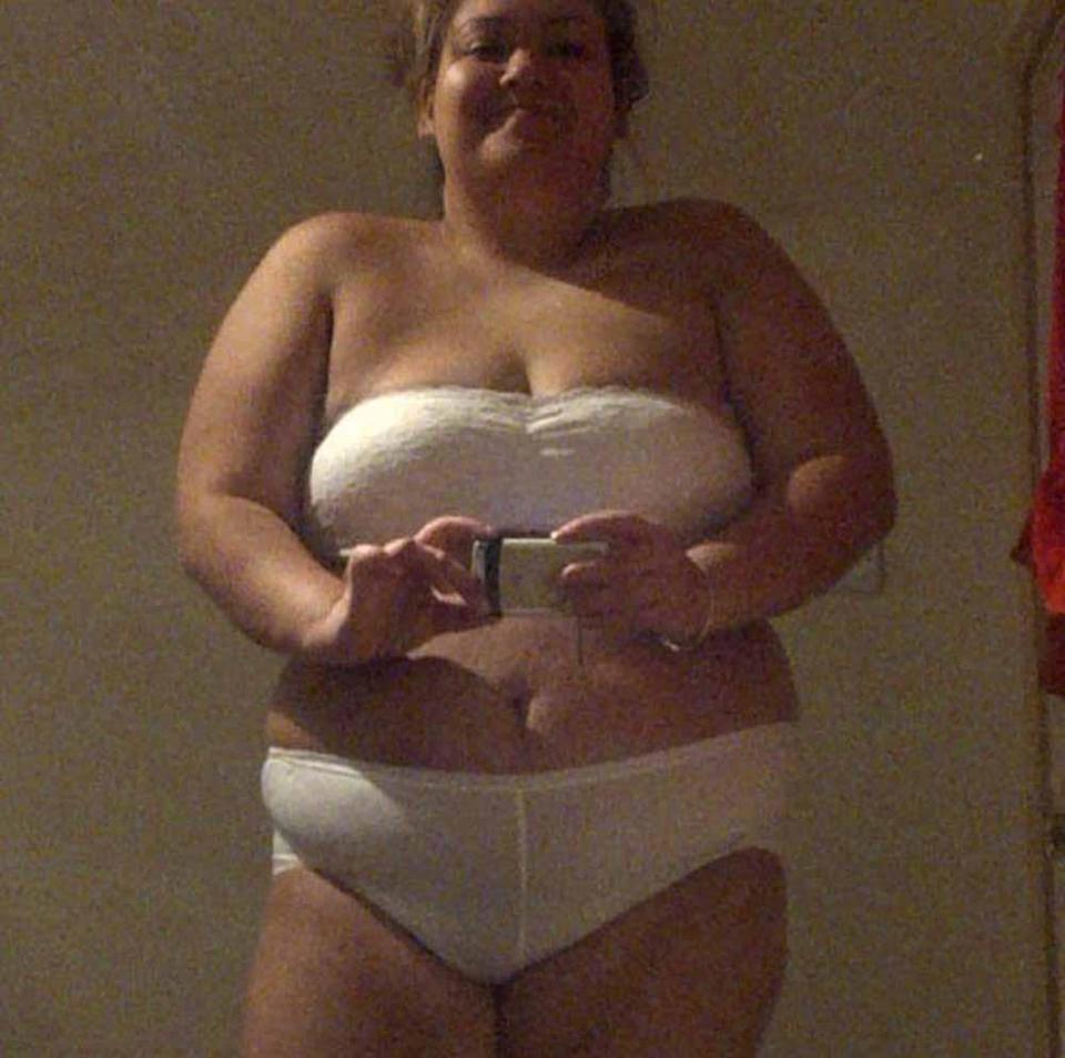 Lekenah pictured before she lost weight. PA REAL LIFE COLLECT