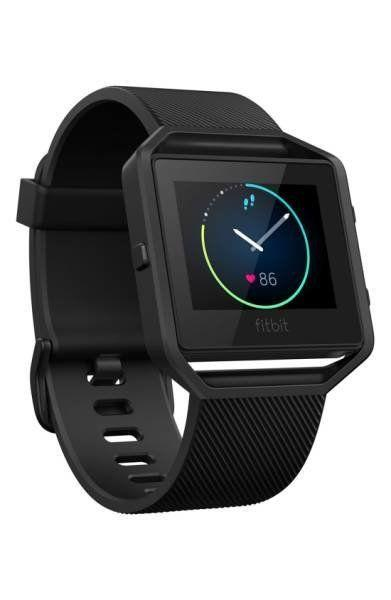 "Let this <a href=""https://shop.nordstrom.com/s/fitbit-blaze-smart-fitness-watch-special-edition/4473076?origin=category-personalizedsort&fashioncolor=GUNMETAL%2F%20BLACK"" target=""_blank"">sleek sporty watch</a> inspire all of your next fitness goals."