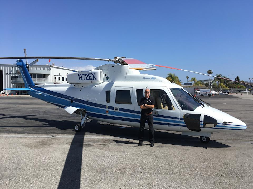 Ara Zobayan, pictured in front of the Sikorsky helicopter he flew with Kobe Bryant and seven others on January 26, 2020. (Courtesy of Chuck Street)