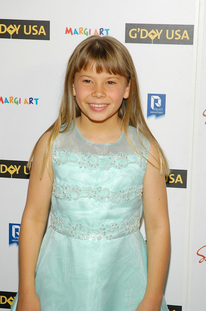 TV personality Bindi Irwin poses at the opening night celebration for G'DAY USA: Australia Week at Jazz Lincoln Center on January 22, 2008 in New York City. (Photo by Steven Henry/Getty Images)