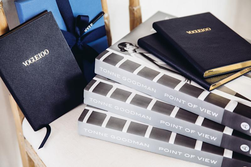 Smythson's exclusive Vogue100 Soho Notebooks and Tonne Goodman's Point of View