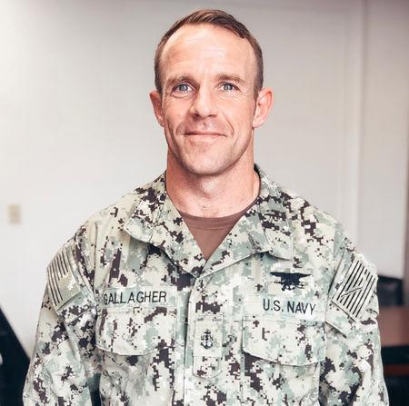 U.S. Navy SEAL Special Operations Chief Edward Gallagher, charged with war crimes in Iraq, is shown in this undated photo provided May 24, 2019.  Courtesy Andrea Gallagher/Handout via REUTERS