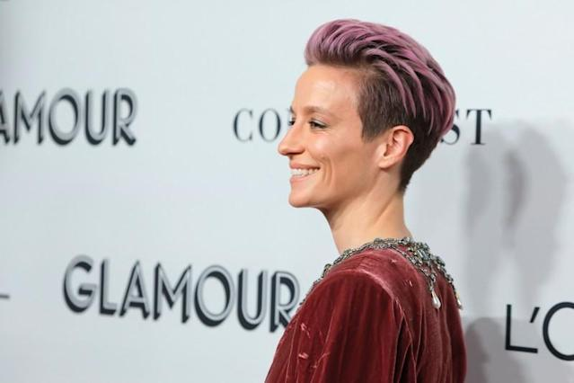 Soccer Player Megan Rapinoe attends the 2019 Glamour Women Of The Year Awards in Manhattan, New York City