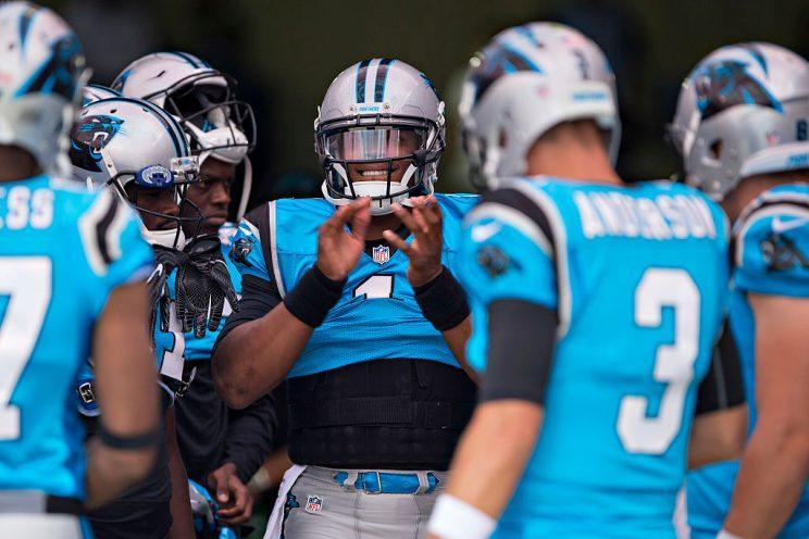 Cam Newton is a unique fantasy weapon, leading a terrific offense. He's clearly the top QB in our game. (Getty Images)