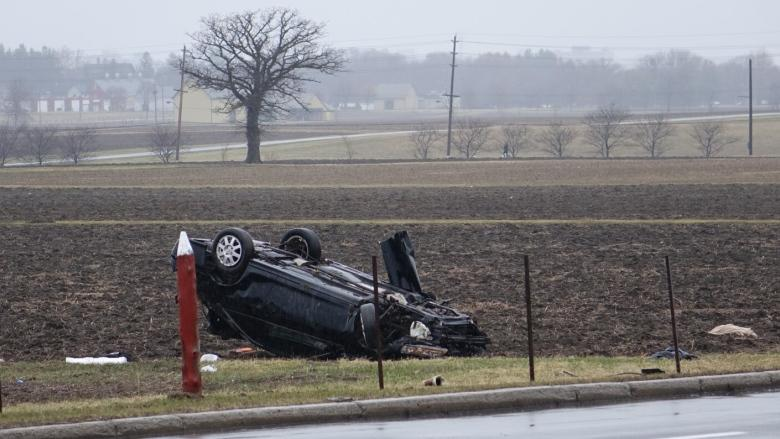 2 men die from injuries suffered after car flips on Baseline Road