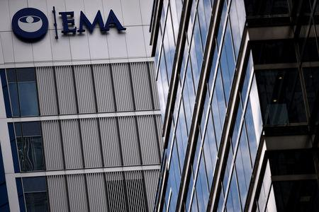 FILE PHOTO: The headquarters of the European Medicines Agency (EMA), is seen in London