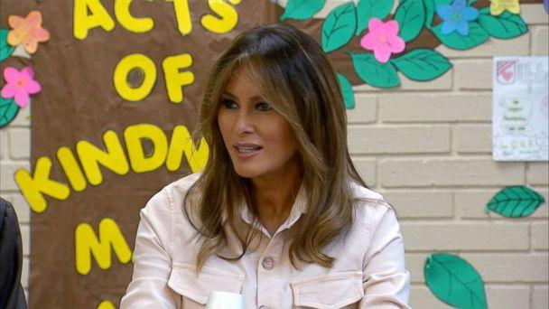 PHOTO: First lady Melania Trump visits an immigration detention facility in McAllen, Texas, June 21, 2018. (ABC News)