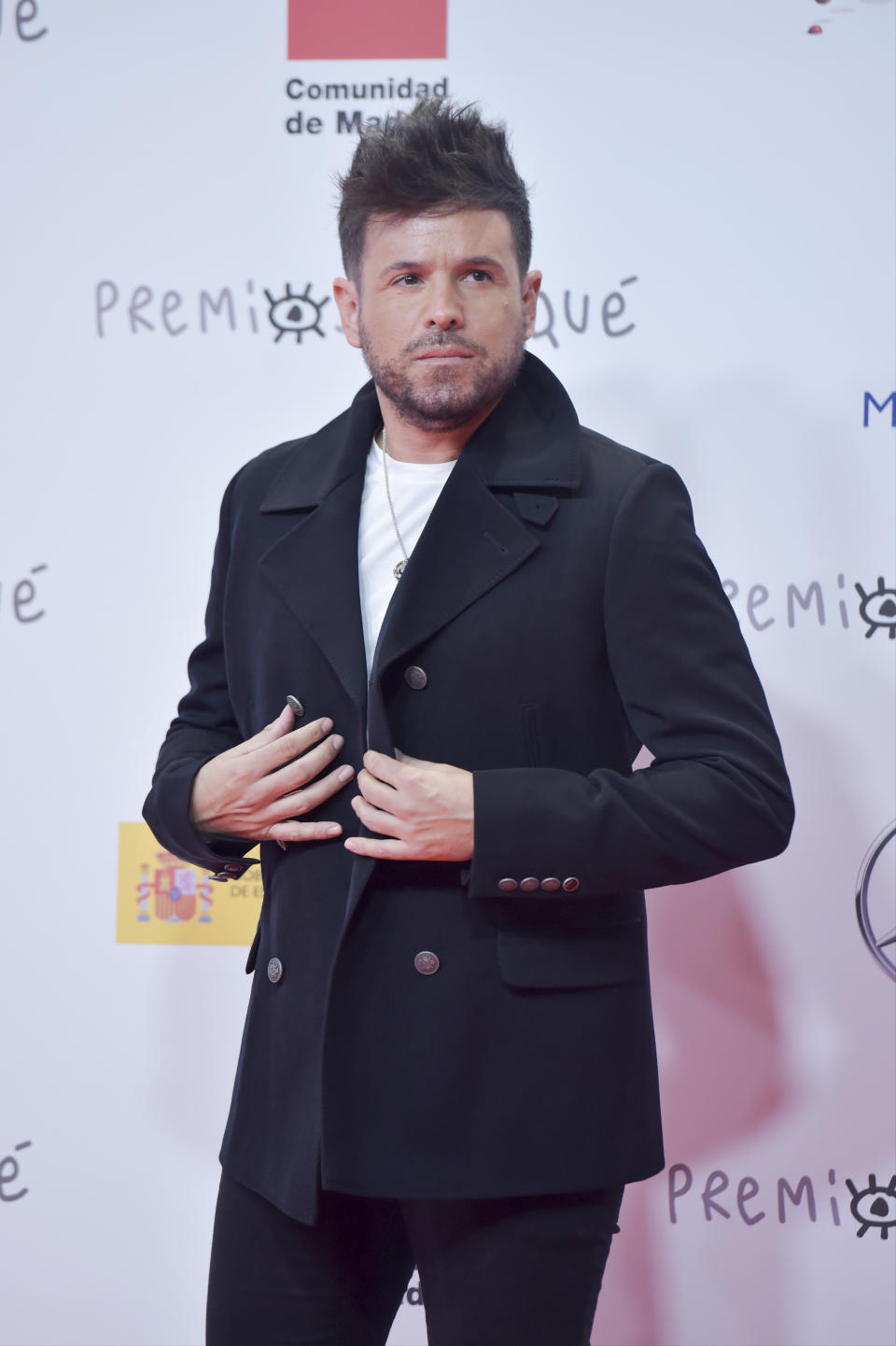 MADRID, SPAIN - JANUARY 16: Pablo Lopez attends 'Jose Maria Forque Awards' 2021 red carpet at IFEMA on January 16, 2021 in Madrid, Spain. (Photo by Juan Naharro Gimenez/WireImage)