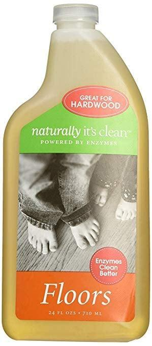 <p>Remove dirt, grease, and grime from your hardwood surfaces using the <span>Naturally It's Clean Natural Hard Wood All Floor Cleaner </span> ($9, originally $14).</p>