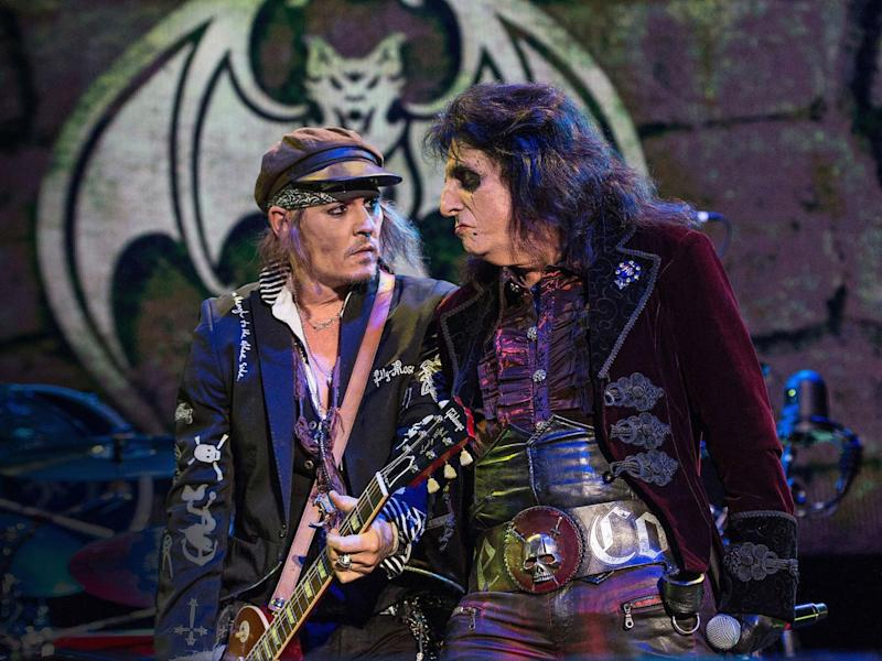 Tour: Depp has joined Alice Cooper's Hollywood Vampires on tour (Brian Rasic/WireImage)