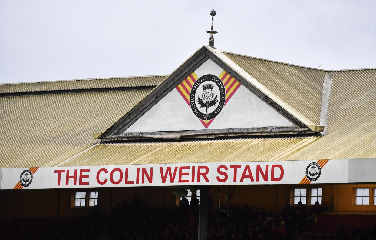 GLASGOW, SCOTLAND - JANUARY 11: A general view of the Colin Weir stand during the Ladbrokes Championship match between Partick Thistle and Dundee United at The Energy Check Stadium at Firhill on January 11, 2020, in Glasgow, Scotland. (Photo by Rob Casey / SNS Group via Getty Images)