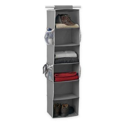 """<h3><a href=""""https://www.bedbathandbeyond.com/store/product/studio-3b-trade-6-shelf-hanging-sweater-organizer-in-grey/1045816147"""" rel=""""nofollow noopener"""" target=""""_blank"""" data-ylk=""""slk:Studio 3B 6-Shelf Hanging Sweater Organizer"""" class=""""link rapid-noclick-resp"""">Studio 3B 6-Shelf Hanging Sweater Organizer</a> ( <strong>Back-To-School Bestseller)</strong></h3><p>Another lifetime closet essential: the hanging shelf organizer. This bestselling, six-shelf unit is described by reviewers to be, """"Hands down the best, I like this organizer so much! It's very sturdy and I love the side pockets.""""</p><br><br><strong>Studio 3B</strong> 6-Shelf Hanging Sweater Organizer in Grey, $14.99, available at <a href=""""https://www.bedbathandbeyond.com/store/product/studio-3b-trade-6-shelf-hanging-sweater-organizer-in-grey/1045816147?categoryId=13137&fromCollege=true"""" rel=""""nofollow noopener"""" target=""""_blank"""" data-ylk=""""slk:Bed Bath & Beyond"""" class=""""link rapid-noclick-resp"""">Bed Bath & Beyond</a>"""