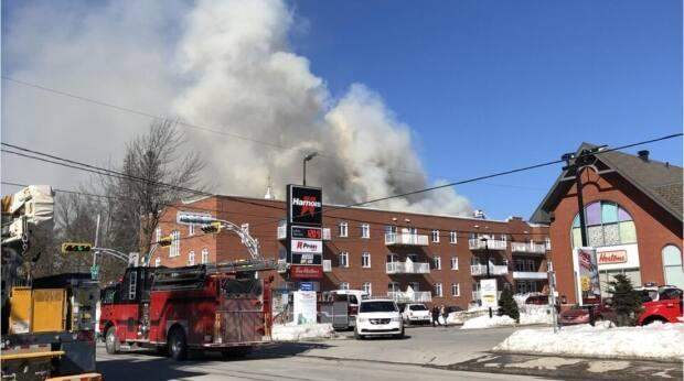 It is still not clear how the fire started and when residents will be able to return to their homes.  (Marie-Claude Julien/Radio-Canada - image credit)