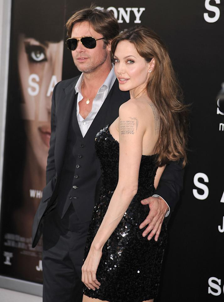 """Brad Pitt and Angelina Jolie are having issues, claims <i>In Touch.</i> And """"the root of [the couple's] problems is their sex life,"""" which has all but disappeared. How serious has it become? For the answer, log onto <a href="""" http://www.gossipcop.com/angelina-jolie-sex-life-brad-pitt/"""" target=""""new"""">Gossip Cop.</a> Steve Granitz/<a href=""""http://www.wireimage.com"""" target=""""new"""">WireImage.com</a> - July 19, 2010"""