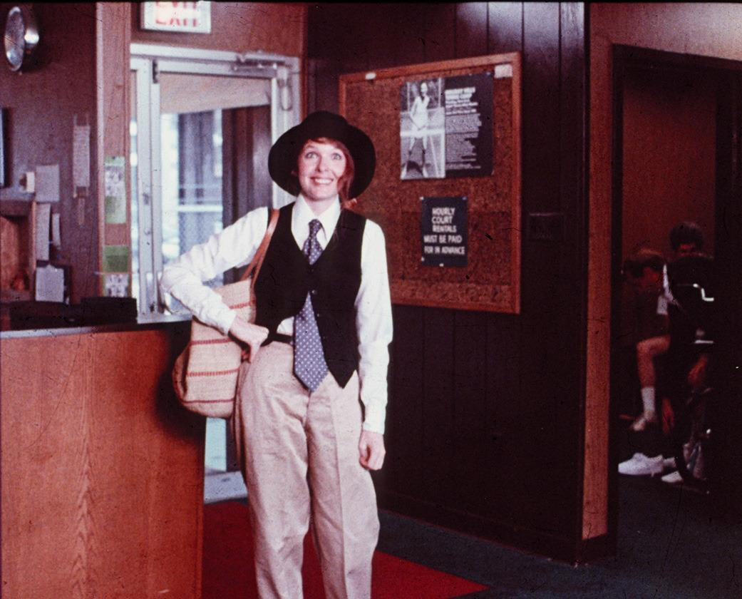 <p>Keaton's character, in her menswear separates, represents the modern intellectual woman in Woody Allen's <i>Annie Hall</i>. Keaton took inspiration from female artists living in New York's SoHo during the mid-seventies. Photo: Everrett Digital<br /><br /></p>