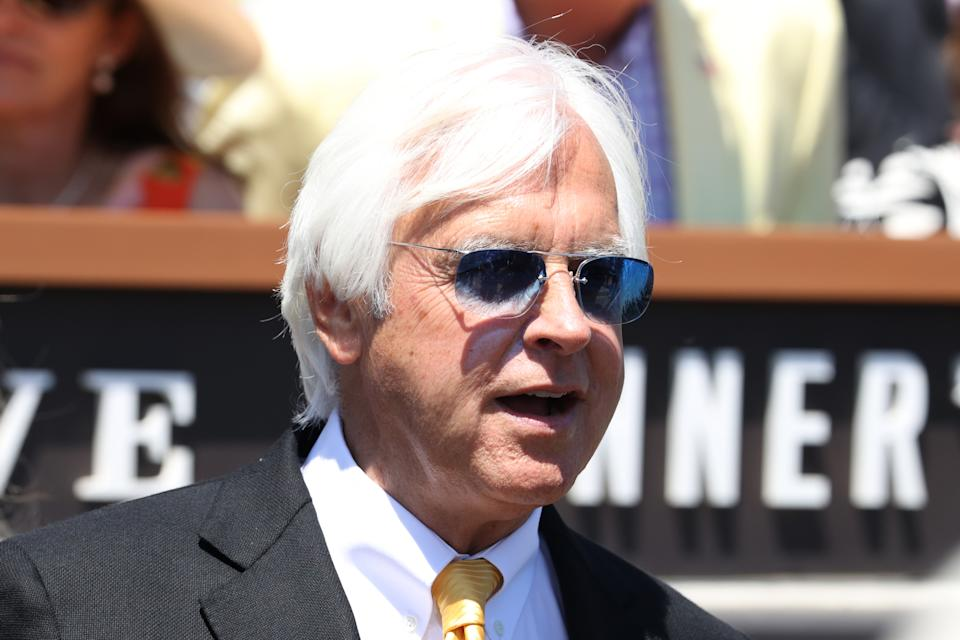 LOUISVILLE, KY - MAY 01: Trainer Bob Baffert wins his 7th Kentucky Derby after winning the 147th Running of the Kentucky Derby on May 1, 2021 at Churchill Downs in Louisville, Kentucky. (Photo by Brian Spurlock/Icon Sportswire via Getty Images)