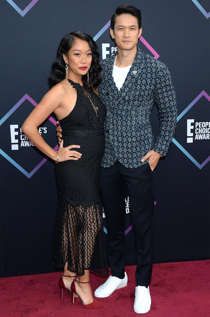 Harry Shum Jr. and Wife Shelby Attend People's Choice Awards Hours After Announcing Pregnancy