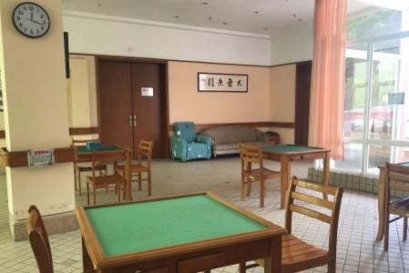 Mahjong area for elderly's recreation in Yee Hong Heights, a senior care home managed by a Hong Kong charitable organization, in Shenzhen