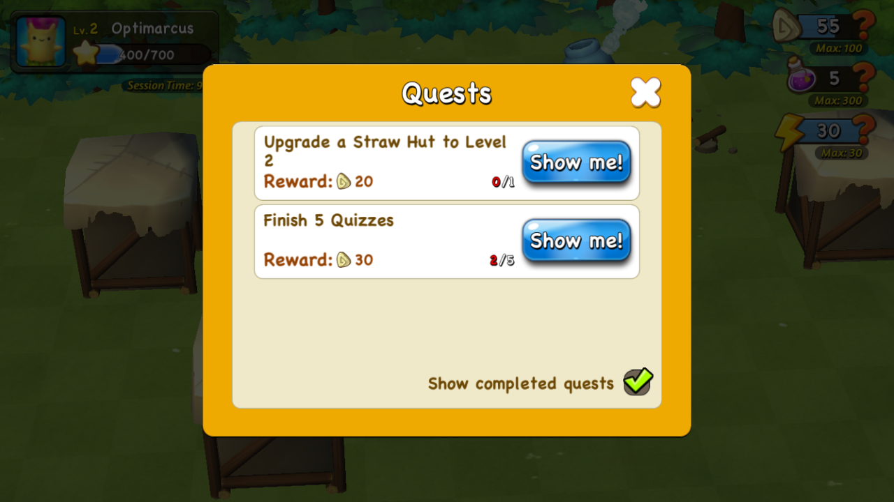 Quests available in Brainy Arkies.