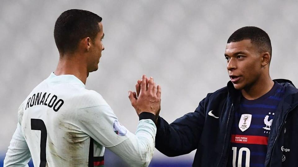 Cristiano y Mbappé   FRANCK FIFE/Getty Images