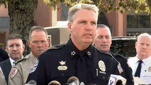 PHOTO: Collierville Police Chief Dale Lane gives an update on the Kroger grocery store shooting, Sept. 24, 2021, saying a total of 15 people were shot, including a woman who died of her wounds, in Collierville, Tenn. (ABC News)