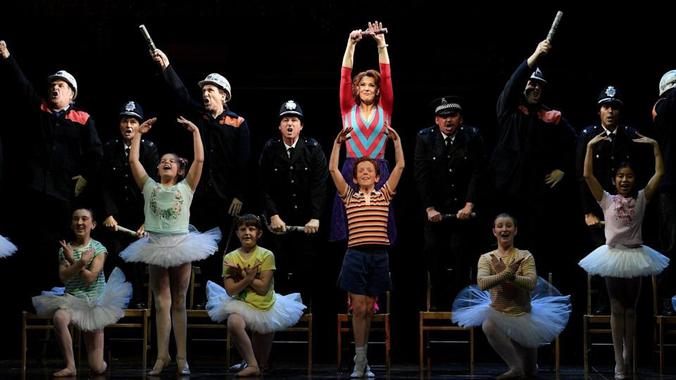 Mandatory Credit: Photo by DAN HIMBRECHTS/EPA-EFE/Shutterstock (10448000i)The cast performs during a media call for Billy Elliot The Musical, at the Sydney Lyric Theatre in Sydney, Australia, 17 October 2019.