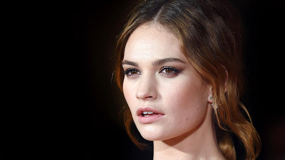 Lily James has made her first interview appearance following her cheating scandal with Dominic West. Photo: Getty