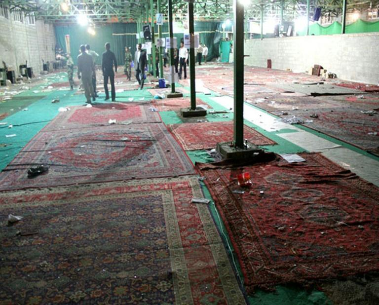 """The 2008 bombing, which Iran blames on US-based """"terrorists"""", ripped through a packed mosque in the southern city of Shiraz, killing 14 people and wounding 215"""