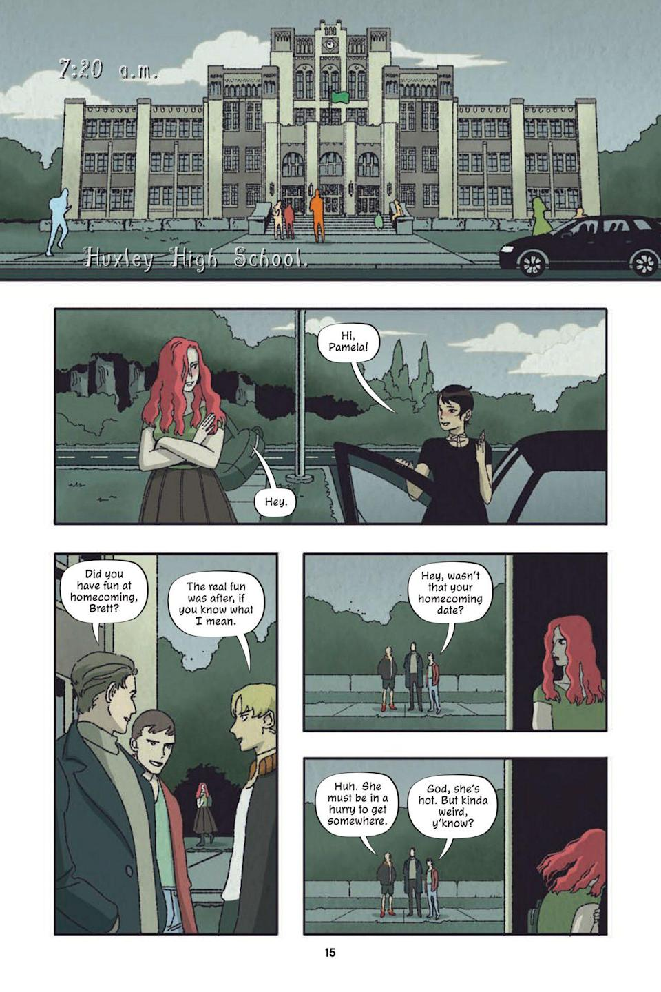 A page from Poison Ivy Thorns shows Ivy talking with Alice Oh