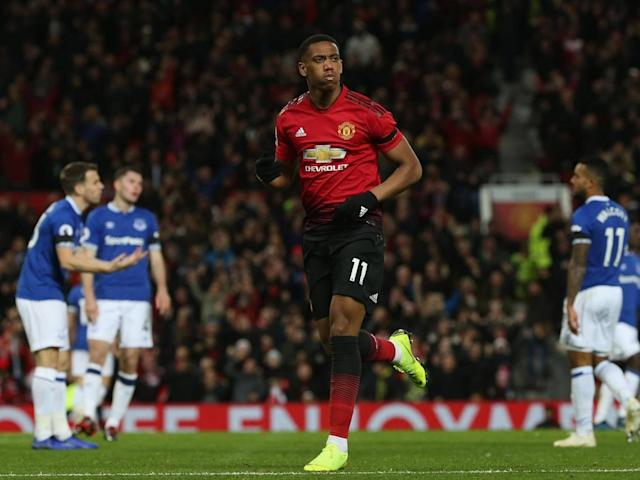 Anthony Martial's curling finish doubled Manchester United's lead (Getty)