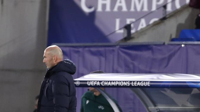 Pelatih Real Madrid Zinedine Zidane (AP Photo/Manu Fernandez)