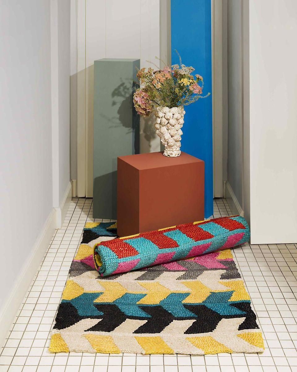 """<p>Curators of cool Molly Molloy (former Marni design director) and Lucinda Chambers (ex-fashion director of Vogue) are the women behind hip brand Colville. Now they've added a homeware string to<br>their bow with cushions, throws and rugs. Brighten up your rooms with their vibrant textiles. From £375, <u><a href=""""https://www.colvilleofficial.com/collections/homeware"""" rel=""""nofollow noopener"""" target=""""_blank"""" data-ylk=""""slk:colvilleofficial.com"""" class=""""link rapid-noclick-resp"""">colvilleofficial.com</a></u></p>"""