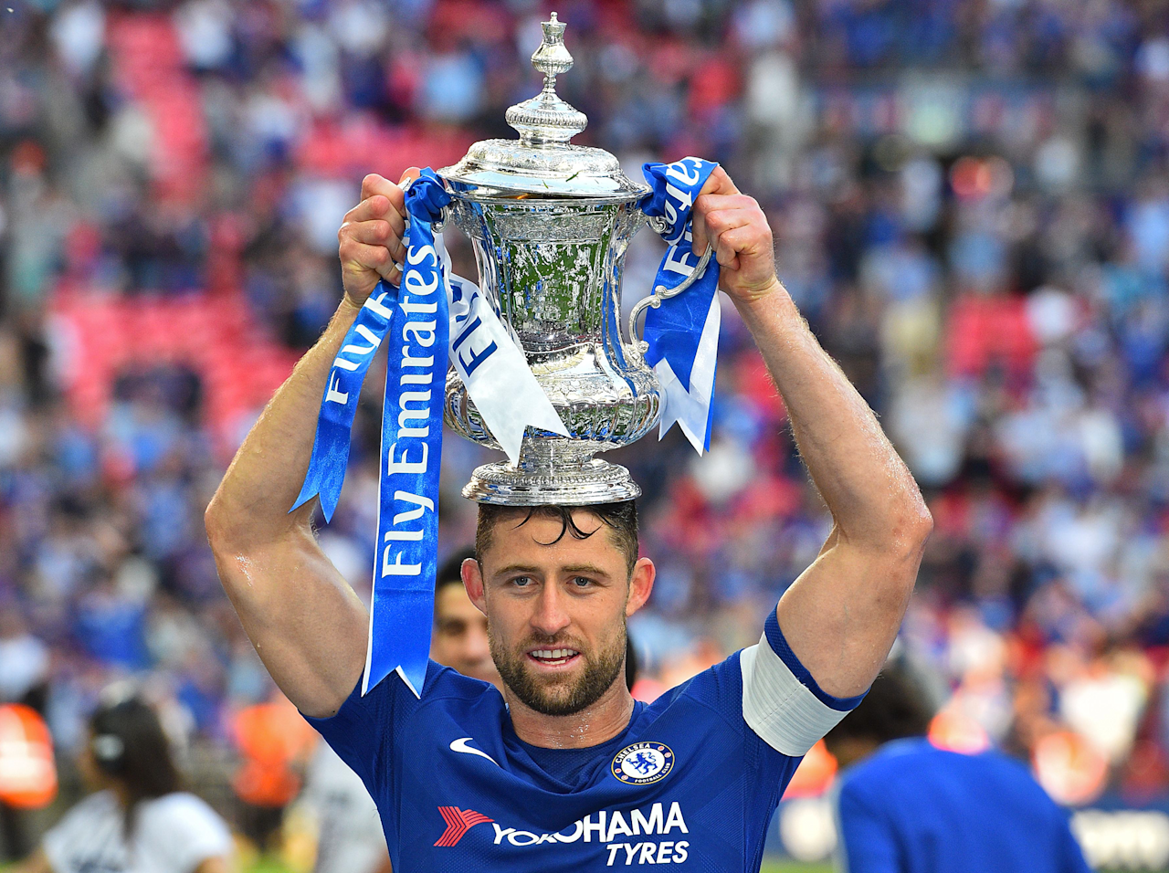 Gary Cahill calls on Chelsea to end uncertainty over Antonio Conte's future after FA Cup triumph