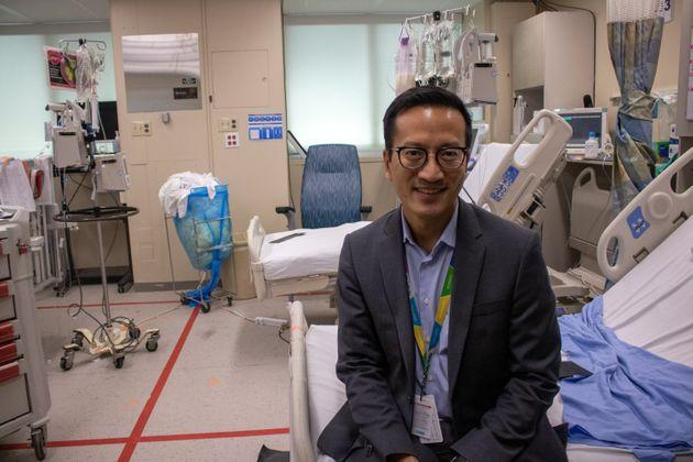 Dr. Lennox Huang is a pediatric intensive care doctor at the hospital.