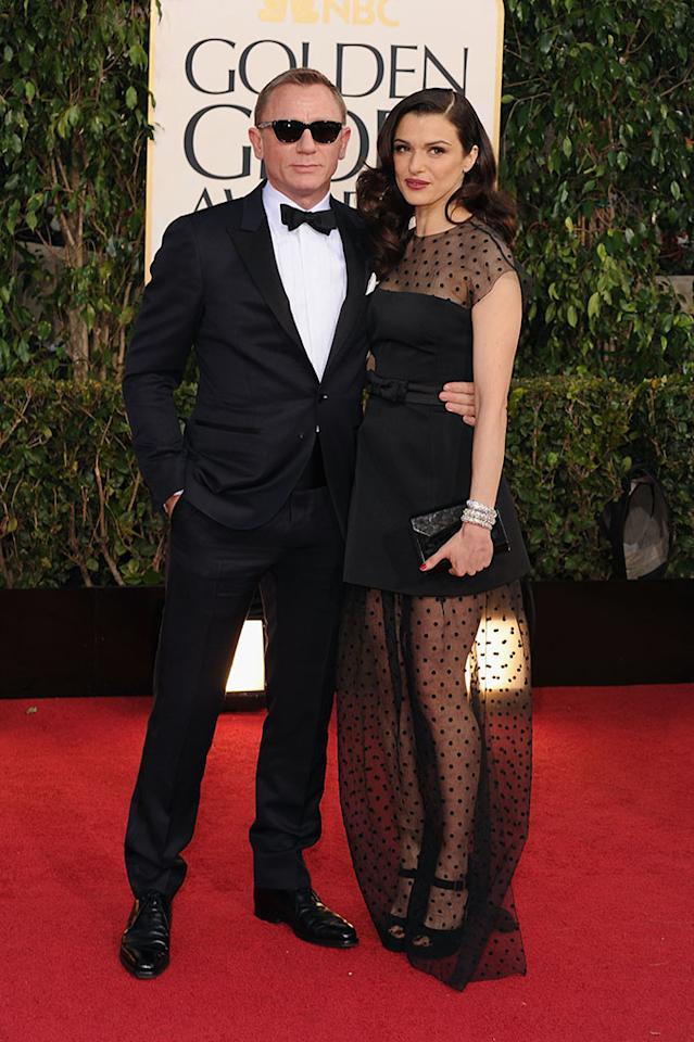 Daniel Craig and Rachel Weisz arrive at the 70th Annual Golden Globe Awards at the Beverly Hilton in Beverly Hills, CA on January 13, 2013.