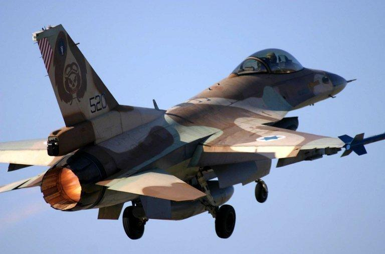 An Israel F-16 warplane takes off from an undisclosed airport on April 26, 2005