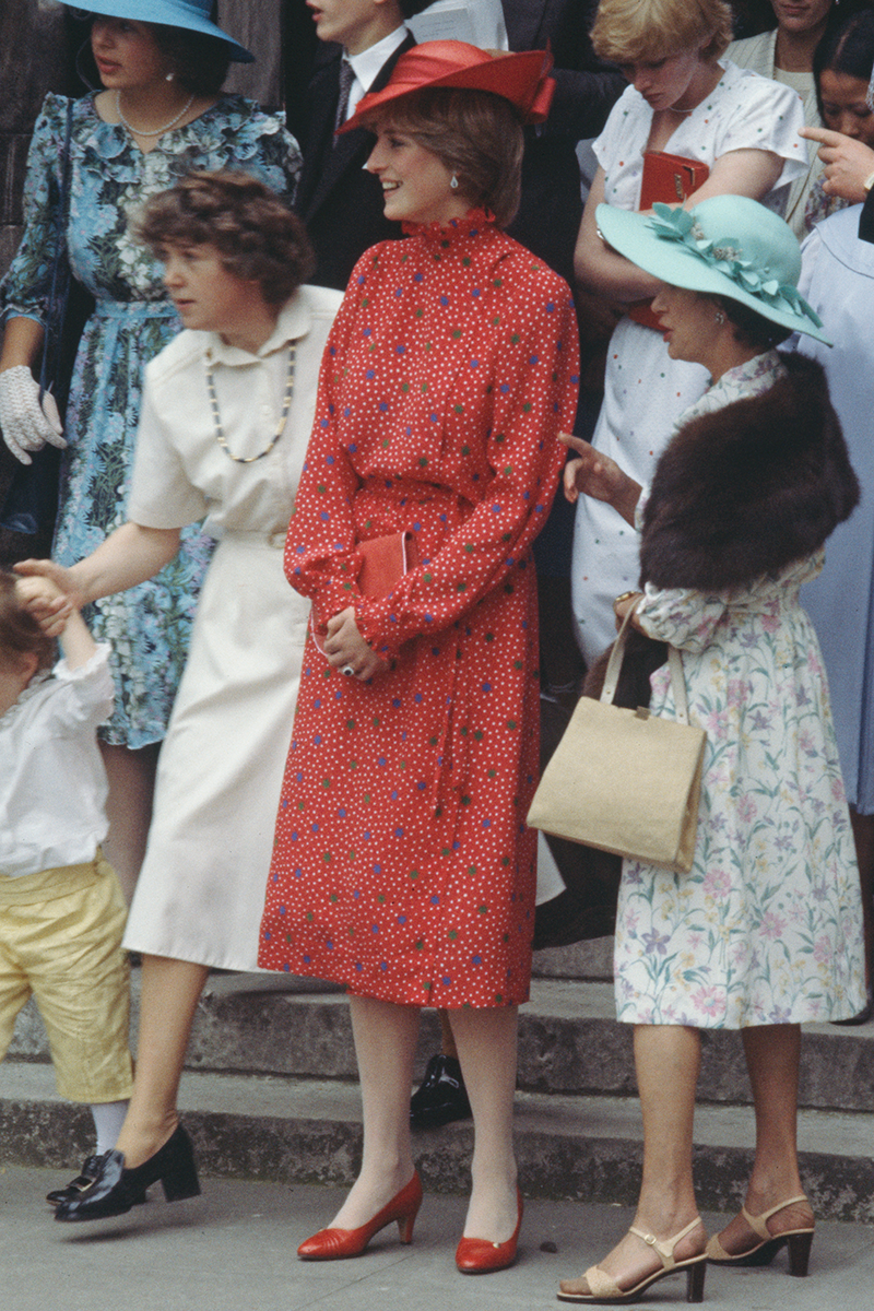 <p>Here's another one of Princess Diana's best coordinated wedding numbers, smashing the age-old 'rule' that guests can't wear red.</p>