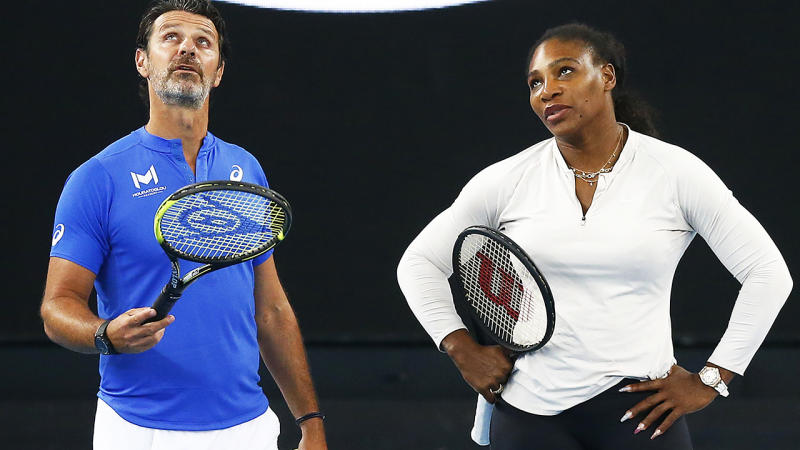Patrick Mouratoglou and Serena Williams, pictured here at the Australian Open in January.