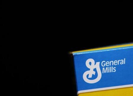 The General Mills logo is seen on a box of cereal in Evanston
