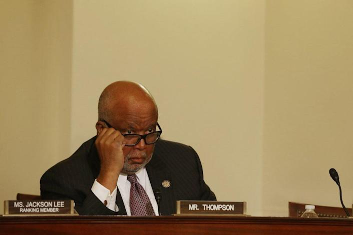 The House Homeland Security Committee ranking member Rep. Bennie Thompson (D-MI) attends a hearing. (Photo by Chip Somodevilla/Getty Images)